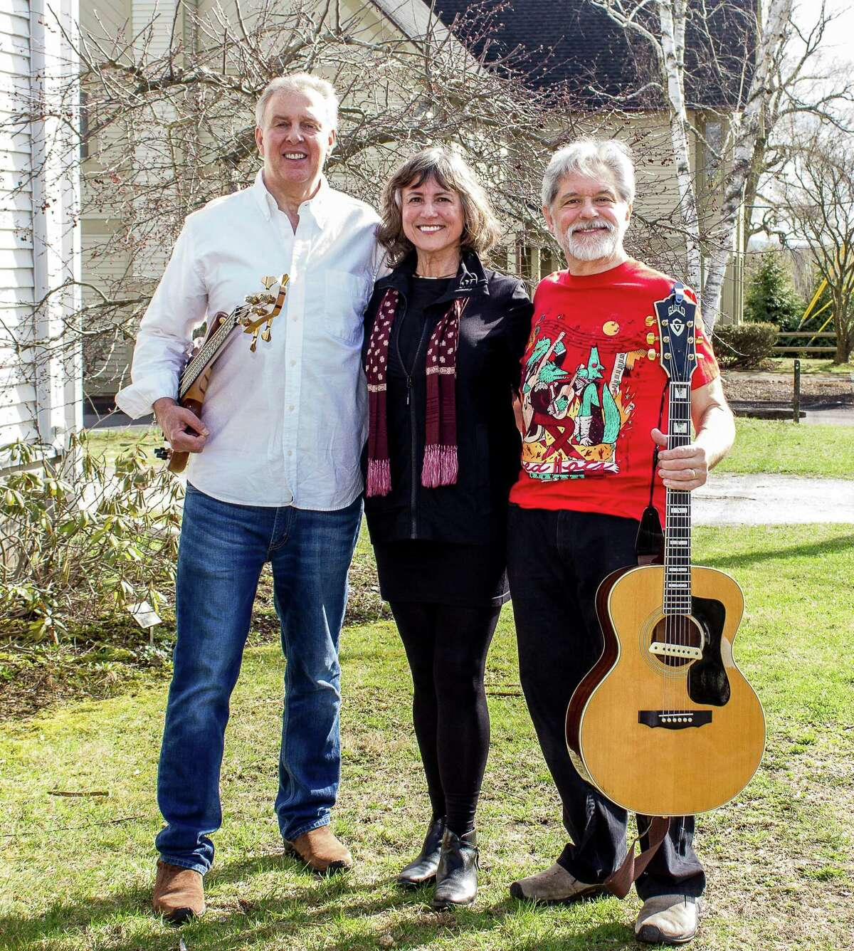 Kent Art Association is hosting two free performances on Make Music Day June 21 at the KAA Gallery, including one by Hummingbird and Friends that includes bassist/harpist Stan Pannone, left, vocalist Bobbi Soares and guitarist Jim Stasiak.