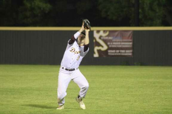 Deer Park right fielder Jordan Phillips was among the four outfielders named to First Team by the coaches. Teammate Dylan Heim, Sterling's Justin Gonzales and West Brook's Cole McConnell were the others. For McConnell, it's his third straight season to land on all-district.