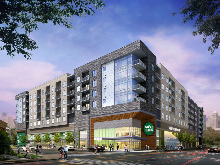 Pearl Marketplace will have 264 high-end apartments and a 40,000-square-foot Whole Foods Market. Photo: Courtesy Of Morgan