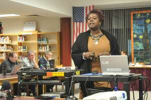 Torrington Superintendent Denise Clemons provided an overview of the Alliance District program Wednesday.