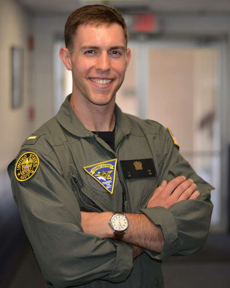Ensign Jared Feig — a Kinkaid graduate and Houston native — is a student pilot serving with Training Air Wing 4 at Naval Air Station Corpus Christi, Texas. Photo: Mass Communication Specialist 2nd Class David Finley / U.S. Navy Photo