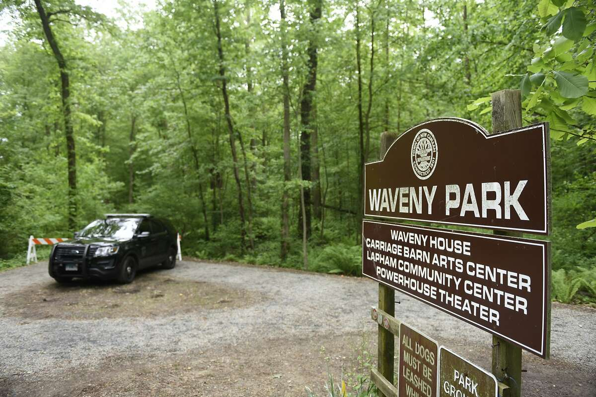 Police block off trails as they search for missing person Jennifer Dulos on the southern end of Waveny Park in New Canaan, Conn. Wednesday, May 29, 2019. More searches coming? Without being too specific, the investigators said they're optimistic about some recent tips they've received.