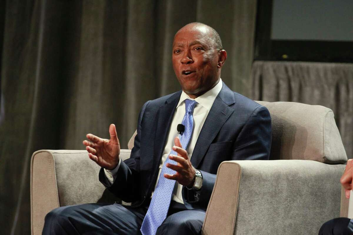 Mayor Sylvester Turner talks during his annual State of the City address on May 20, 2019.