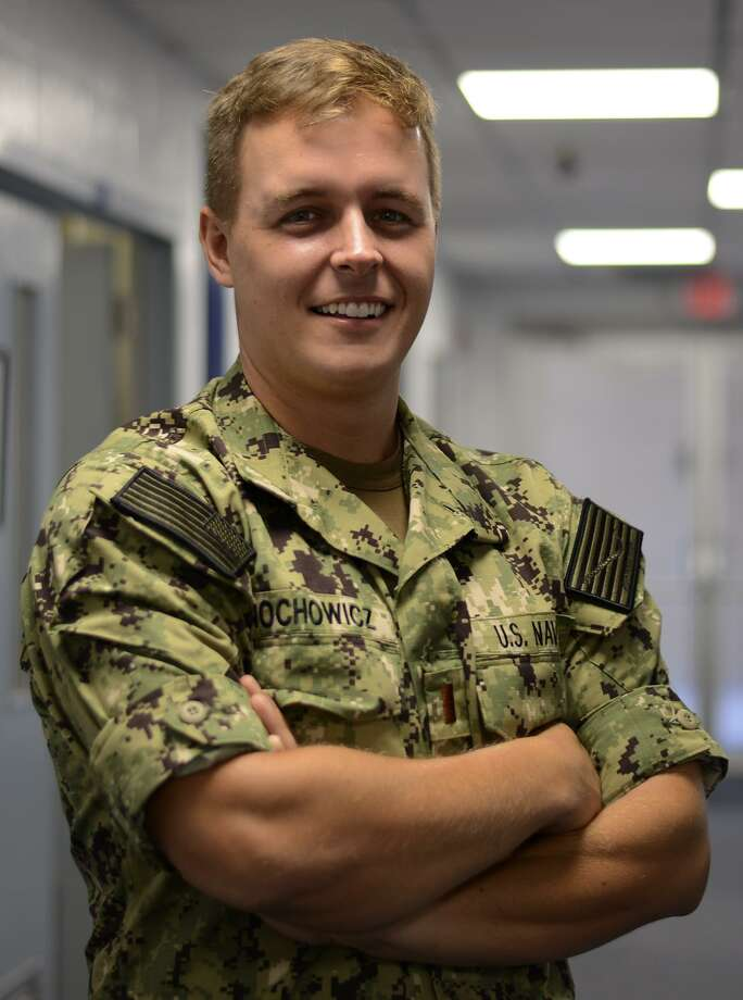 Ensign Christopher Nochowicz — a2010 Saint John Paul II graduate and Houston native —is serving with Training Air Wing 4 at Naval Air Station Corpus Christi, Texas. Photo: Mass Communication Specialist 2nd Class David Finley / U.S. Navy Photo