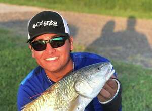 Dom Lopez, 19, of Corpus Christi landed the first tagged redfish of the 2019 STAR Tournament.