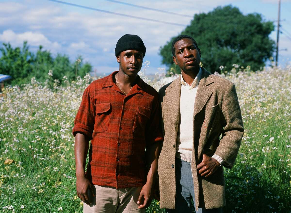 Jimmie Fails, starring as himself and Jonathan Majors as Montgomery Allen are pictured in A24 release
