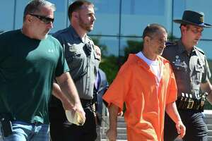 Fotis Dulos walks out of the Stamford courthouse Tuesday afternoon after posting $35,150 bond.