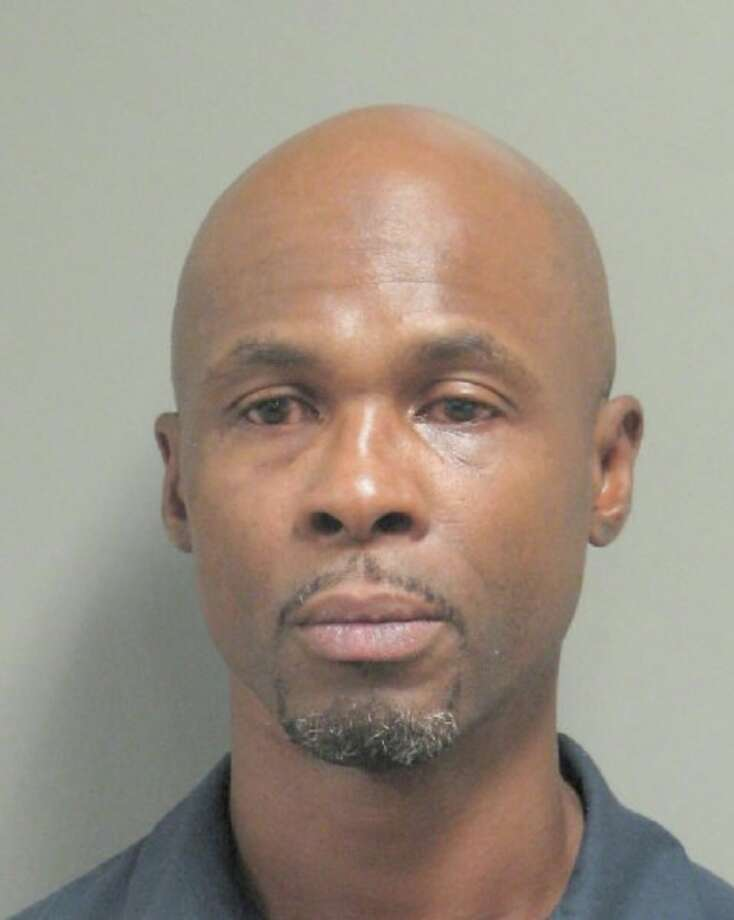 Hezron Benjamin Stuart, 47, was charged with felony aggravated assault with a deadly weapon for allegedly hitting a woman and then climbing onto an apartment complex roof and opening fire May 8, 2019. Photo: Houston Police Department