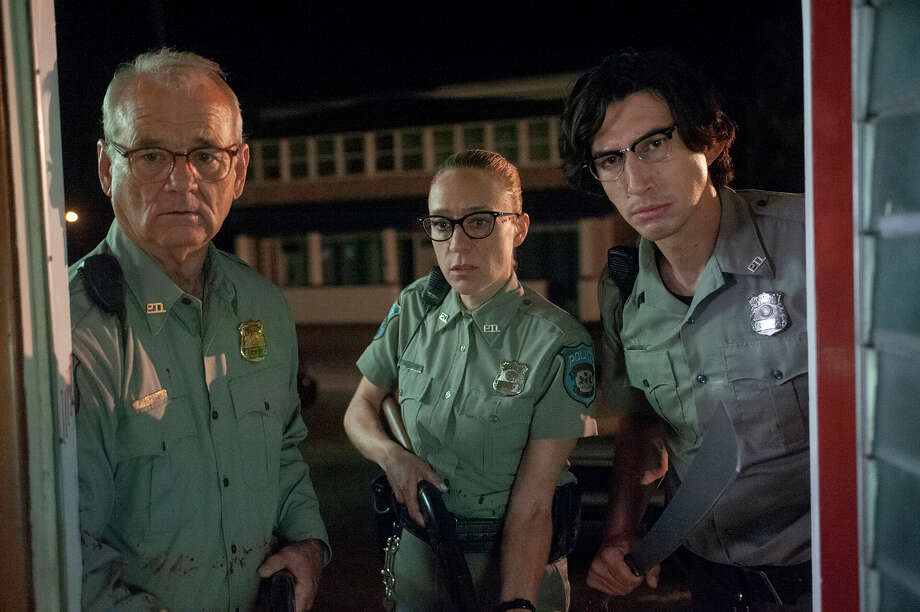 "From left: Bill Murray, Chloë Sevigny and Adam Driver investigate a zombie apocalypse in Jim Jarmusch's horror comedy ""The Dead Don't Die."" Photo: Abbot Genser, Focus Features / 2019 Image Eleven Productions, Inc."