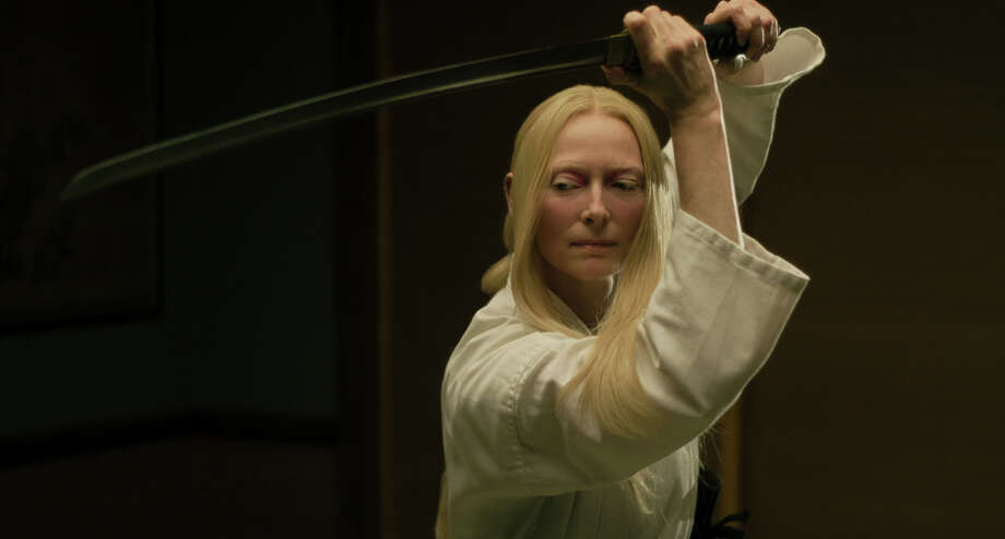 """Tilda Swinton plays an undertaker in """"The Dead Don't Die."""" Photo: Frederick Elmes, Focus Features / 2019 Image Eleven Productions, Inc."""