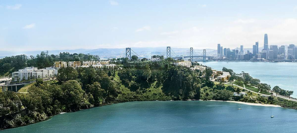 Rendering of new housing deveopment on San Francisco's Yerba Buena Island.