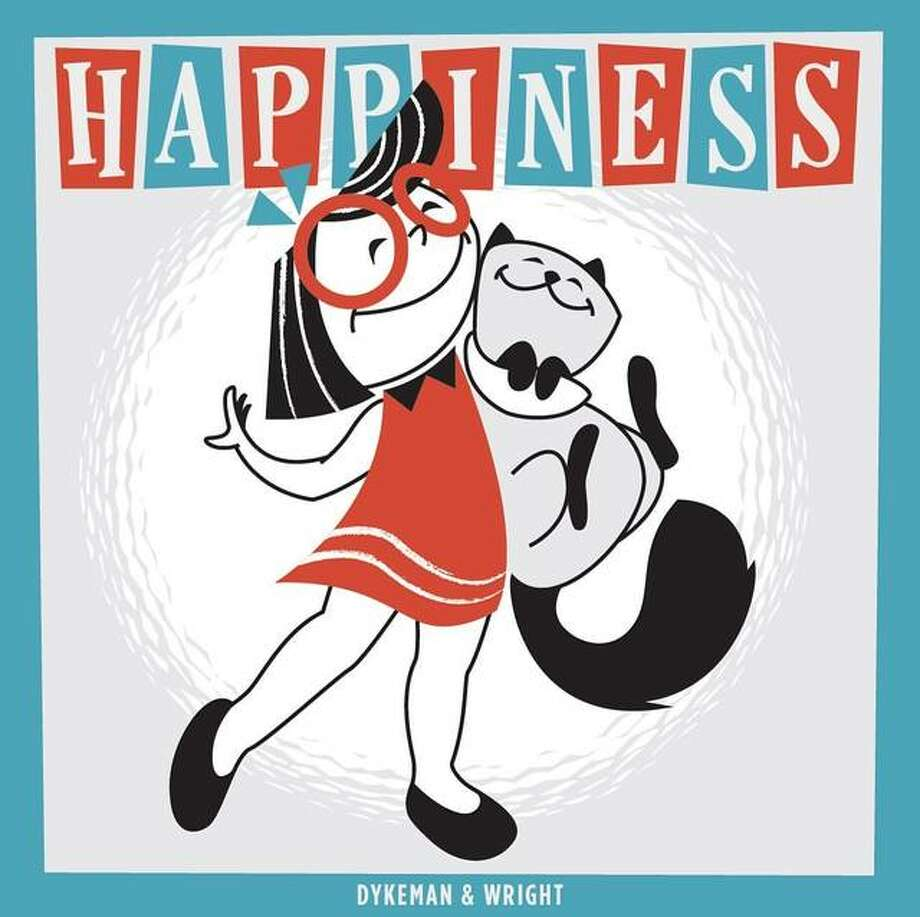 """The cover of """"Happiness"""" written by Dr. Dykeman with illustrations by Kris Wright."""