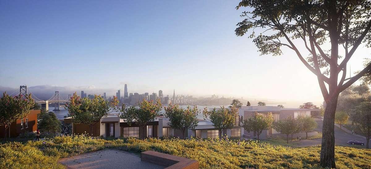 New housing development on San Francisco's Yerba Buena Island.