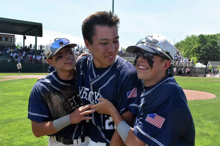 Staples wins the 2019 Class LL state championship 3-0 over Southington at Palmer Field, Middletown, on Saturday June 8, 2019. (Pete Paguaga, Hearst Connecticut Media)