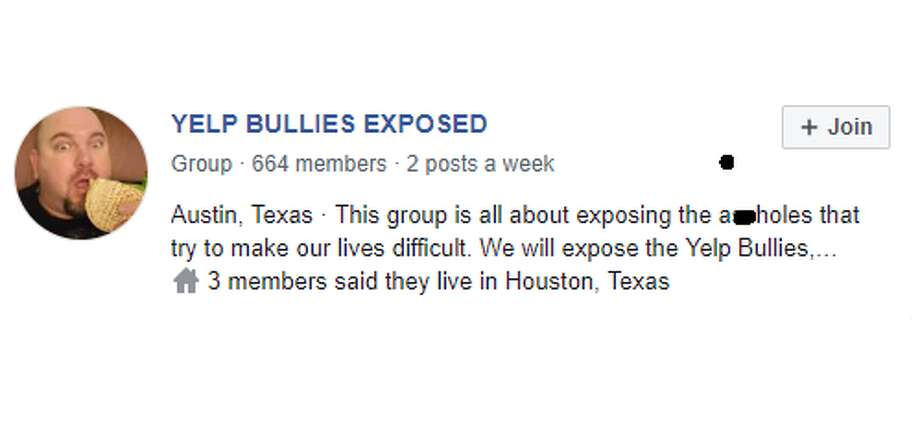 Dan Neves is a waiter at a restaurant in Austin and created YELP BULLIES EXPOSED, a private Facebook group that tracks down rude Yelpers and sends them a hot, fresh bag of animal poop via poopsenders.com.  Photo: Twitter Screengrab YELP BULLIES EXPOSED
