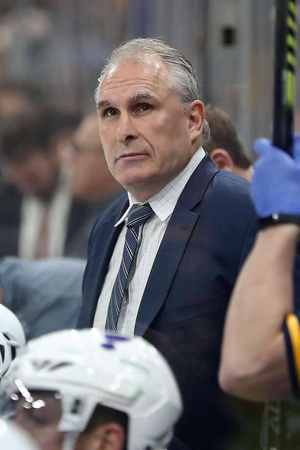 Head coach Craig Berube has guided the Blues to a 9-3 road record in the playoffs. Photo: Adam Glanzman / Getty Images