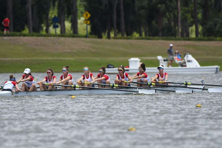 Greenwich Crew's women's lightweight 8+ boat won the gold medal for the second straight year in the Grand Final at the 2019 USRowing Youth National Championships this past weekend in Sarasota, Fla. Photo: Contributed Photo / Contributed Photo / Greenwich Time Contributed