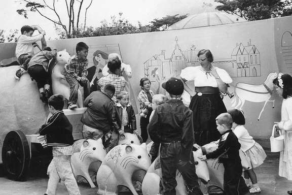 Hostess Pat Zieger at the opening of  Storyland at the Zoo July 25, 1959 Photo would run, 07/26/1959, p. 16