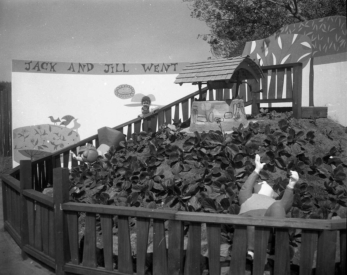 Two year old Lori Lynch got to check out the new Storyland on a preview day.July 2, 1959
