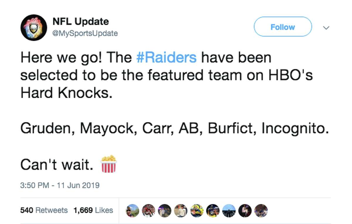 Fans react to the Oakland Raiders being selected for HBO's