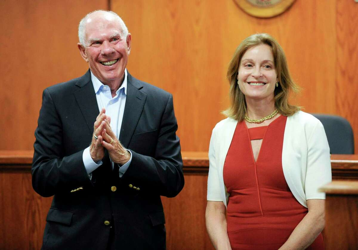 Democratic first selectman candidate Jill Oberlander and Selectman Sandy Litvack were endorsed by acclimation Wednesday night by the Democratic Town Committee. The DTC endorsed a full slate of candidates for the fall municipal elections.
