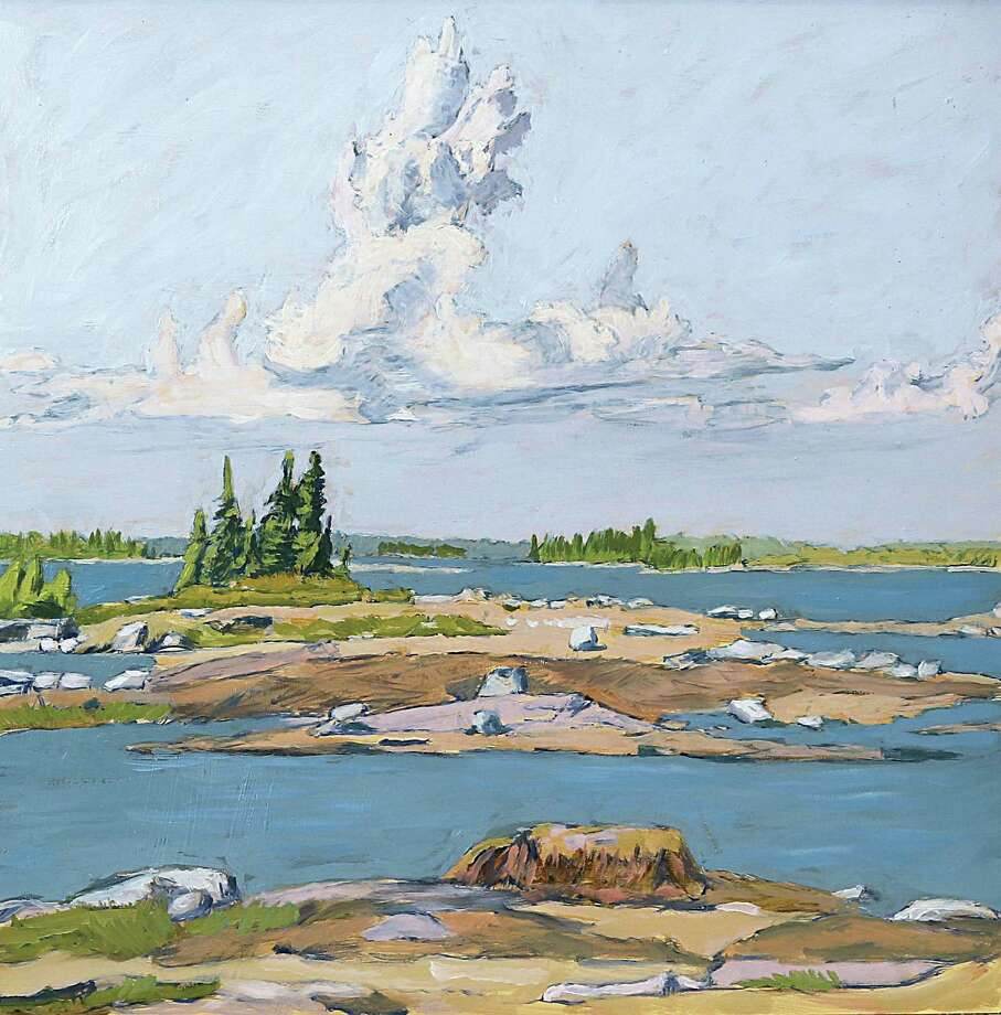 The Gunn Memorial Library's Stairwell Gallery in Washington is displaying a new collection of landscape paintings by celebrated Connecticut artist Frank Metz through July 20, and feature a reception with the artist June 15 from noon to 2 p.m. Working in both oil and watercolor, Metz, whose work is shown above, has been painting landscapes for over 60 years. Photo: Courtesy Of Gunn Memorial Library / The News-Times Contributed