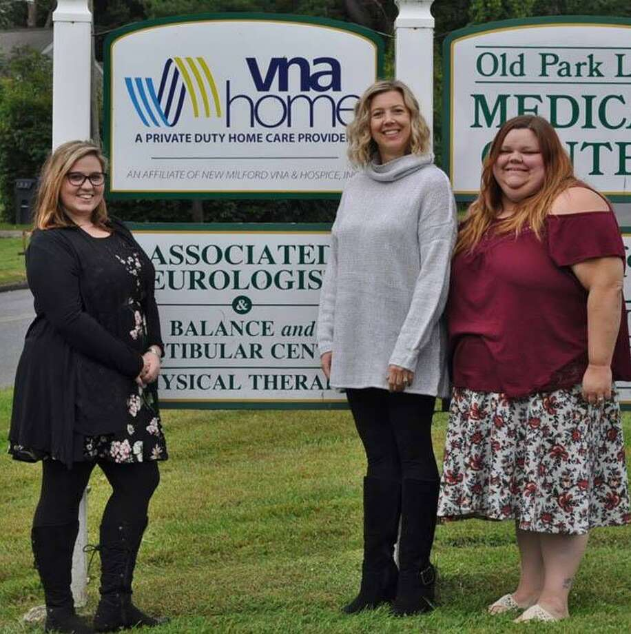 VNA Home Inc. in New Milford has announced it has earned The Joint Commission's Gold Seal of Approval for Home Care Accreditation by demonstrating continuous compliance with its performance standards. Above is the organization's management team, from left to right, Nichole Brant, program director, Melissa Gmuer, staff supervisor, and Kelsey Collins, client care coordinator. Missing are staffers Tracy Davis, scheduling coordinator, and Karen Grosso, accounting coordinator. Photo: Courtesy Of VNA Home Inc. / The News-Times Contributed