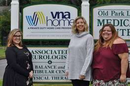 VNA Home Inc. in New Milford has announced it has earned The Joint Commission's Gold Seal of Approval for Home Care Accreditation by demonstrating continuous compliance with its performance standards. Above is the organization's management team, from left to right, Nichole Brant, program director, Melissa Gmuer, staff supervisor, and Kelsey Collins, client care coordinator. Missing are staffers Tracy Davis, scheduling coordinator, and Karen Grosso, accounting coordinator.
