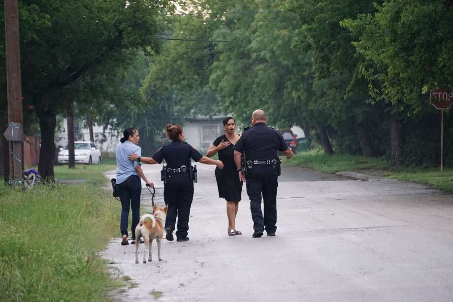 A man was shot about 7 p.m. Tuesday, June 11, 2019, in the 100 block of Hosack Avenue. Photo: Jacob Beltran For MySA.com