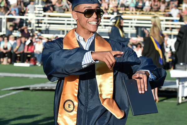 East Haven, Connecticut - Tuesday, June 11, 2019: The East Haven High School Class of 2019 Graduation Ceremony Tuesday evening at the high school. 203 seniors received diplomas.