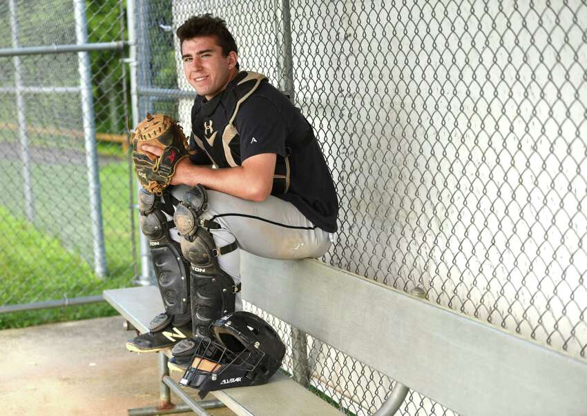 Schuylerville catcher Paul Harshbarger at practice on Tuesday, June 11, 2019 in Schuylerville N.Y. (Lori Van Buren/Times Union)