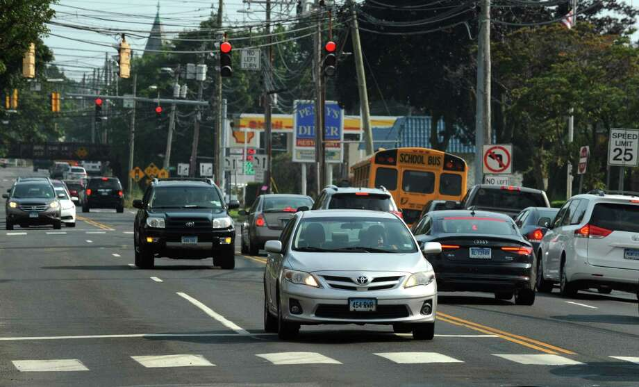 Traffic along East Avenue and the intersection of Saint John Street Thursday, September 6, 2018, in Norwalk, Conn. Norwalk citizens are putting together a traffic safety group to attempt to address lawlessness and aggressive behaviors exhibited by drivers in the city. Photo: Erik Trautmann / Hearst Connecticut Media / Norwalk Hour