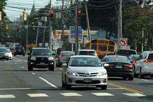 Traffic along East Avenue and the intersection of Saint John Street Thursday, September 6, 2018, in Norwalk, Conn. Norwalk citizens are putting together a traffic safety group to attempt to address lawlessness and aggressive behaviors exhibited by drivers in the city.
