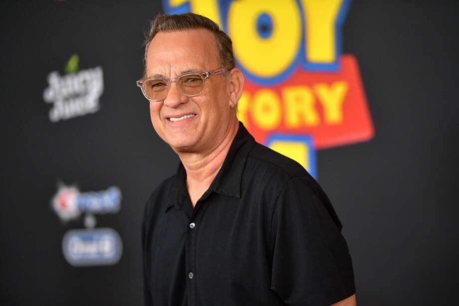 Tom Hanks attends the premiere of Disney and Pixar.