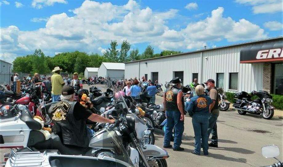 Riders gather at the Tri-County Michigan H.O.G. Chapter No. 2250 Teddy Bear Run. (Photo provided)