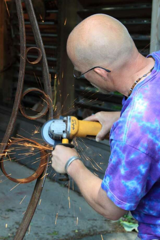 The scrap art of Jason Schultz. (Nancy Bruno / Life at Home) Photo: Photos By Nancy Bruno / Times Union/Life@Home magazine August 2010