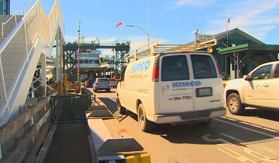 Hundreds of fender benders happen on ferry terminals, and workers blame cellphones. Photo: Courtesy KOMO