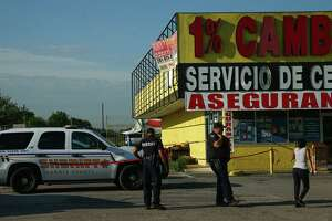 Harris County Sheriff's Office deputies investigate the scene where a man was found deceased at Car Wash 'El Guero' on the 4000 block of Aldine Mail Route Road Wednesday, June 12, 2019, in Houston.