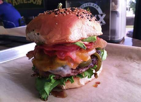 The Norteño burger at Hawx Burger Bar