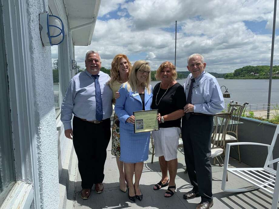 Gail Bartoli was given the Middlesex County Chamber of Commerce Mary Ellen Klinck Real Estate Industry Person of the Year Award June 6. Photo: Contributed Photo