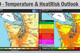 High temperatures on Wednesday could reach the upper 80s in Seattle and the low 90s in some areas of the lowland interior.