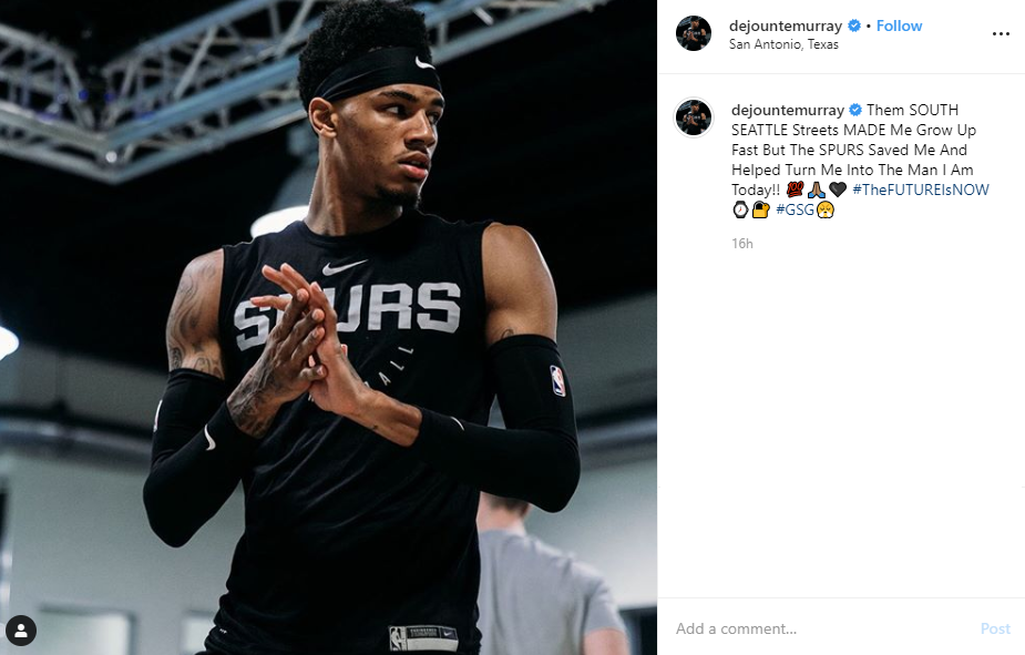 Dejounte Murray credits the Spurs for saving him, helping him become the man he is