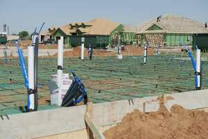 New homes are being built in the 900 block of Buffalo Court in Stanton 06/12/19.Betenbough Homes are constructing the Buffalo Estates. Tim Fischer/Reporter-Telegram