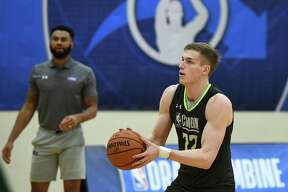 CHICAGO, ILLINOIS - MAY 16: Luka Samanic #72 participates in workouts during Day One of the NBA Draft Combine at Quest MultiSport Complex on May 16, 2019 in Chicago, Illinois. NOTE TO USER: User expressly acknowledges and agrees that, by downloading and or using this photograph, User is consenting to the terms and conditions of the Getty Images License Agreement.