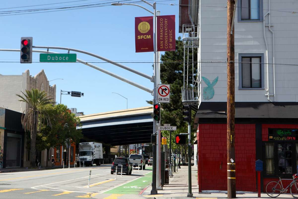 There are two stories of affordable rentals above Zeitgeist, at 199 Valencia St., San Francisco.