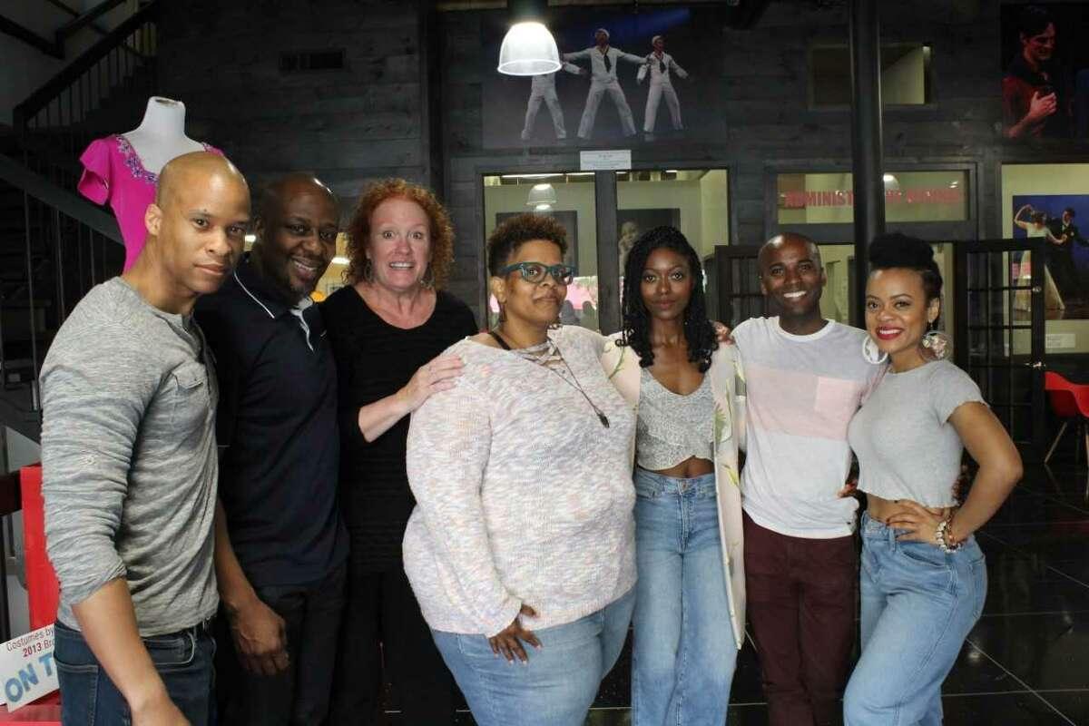 Cast members Peterson Townsend, Ansa Akyea, Peggy Pharr Wilson, Playwright Stacey Rose, Director Logan Vaughn, Jordan Barrow, Kalyne Coleman in