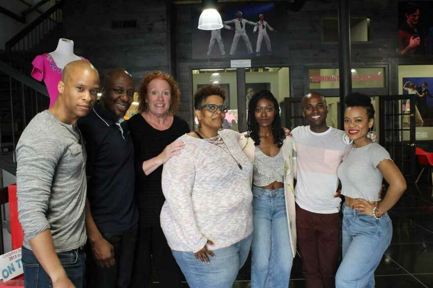 Cast members Peterson Townsend, Ansa Akyea, Peggy Pharr Wilson, Playwright Stacey Rose, Director Logan Vaughn, Jordan Barrow, Kalyne Coleman in