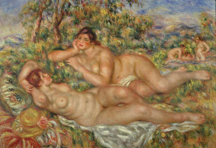 Renoir, Pierre Auguste (1841-1919): Bathers. Paris, Musee d'Orsay*** Permission for usage must be provided in writing from Scala. *** / ® 1997, Photo Scala, Florence.