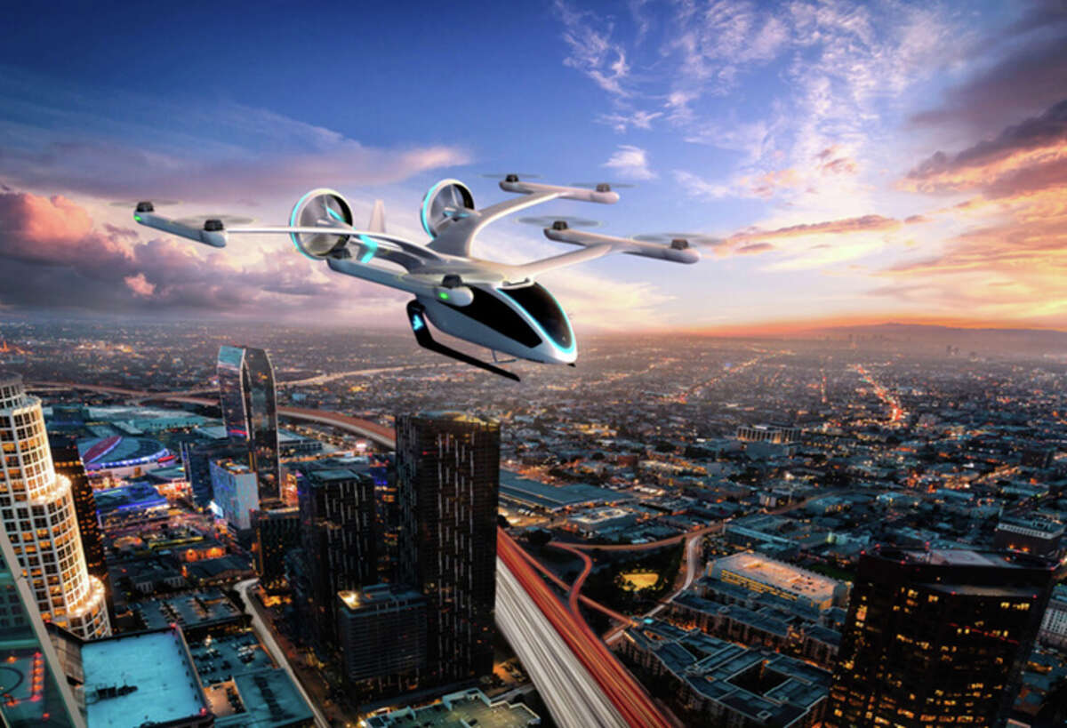 PHOTOS: Uber Air will roll out in 2023 in select cities including Los Angeles, California, Melbourne, Australia and Dallas, according to a June release from the company. >>> See renderings of Uber Skyports.