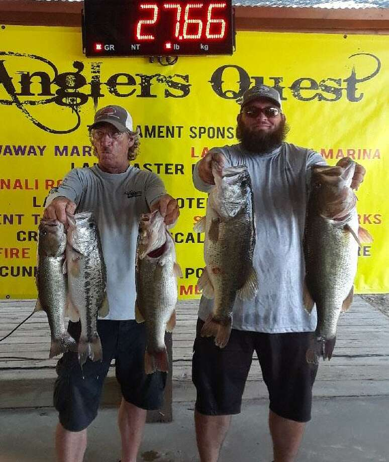 Jason and Gary Griffin won the Anglers Quest Team Tournament #6 with a total stringer weight of 27.66 pounds. Photo: Angler's Quest